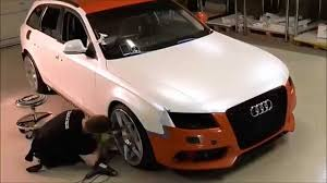 audi color changing car car wrap audi a4 satin pearl white color change