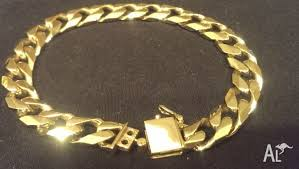 bracelet clasps gold images Heavy mens gold bracelet extra security double lock clasp for jpg