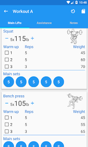 5x5 Bench Press Workout 5x5 Workout Logger Android Apps On Google Play