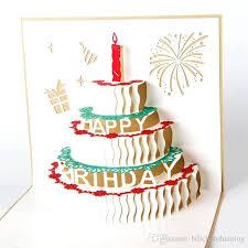 birthday cake greeting card 3d handmade gift stationery card