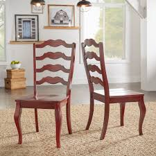 eleanor french ladder back wood dining chair set of 2 by inspire