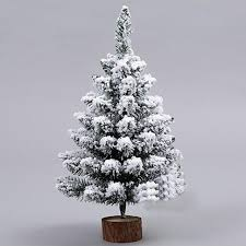 1pc artificial flocking snow tree led multicolor lights