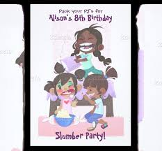 slumber party invitations free templates musicalchairs us