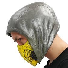Mortal Kombat Scorpion Halloween Costume Scorpion Helmet Mortal Kombat Cosplay Deluxe Pvc Head Dark
