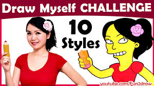 Challenge How To Challenge How To Draw Myself In 10 Animated Styles