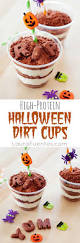 high protein halloween dirt cups laura fuentes