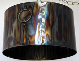 Drum Pendant Rustic Torched Metal Drum Pendant Light Lamp Shade Pro