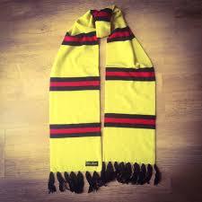 watford luxury merino wool striped football scarf