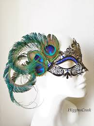 mask with feathers feather masquerade mask womens mask with feathers peacock