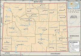 map of wyoming state and county maps of wyoming