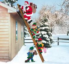 Christmas Yard Decorations Wood Plans by Climbing Claus U0026 Elves Pattern Combo Christmas Pinterest