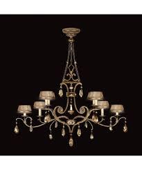 Victorian Chandelier For Sale Fine Art Lamps 755440 Golden Aura 63 Inch Wide 8 Light Chandelier