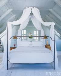 Ceiling Bed Canopy An Anthropologie Canopy Bed Looks Great In This Attic Bedroom