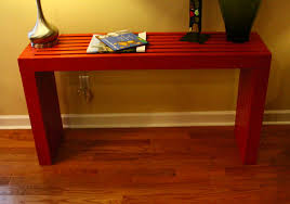 Free Plans To Build End Tables by Ana White Modern Vertical Slat Top Console Diy Projects