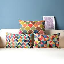 Decorative Throw Pillow Cushion Cover Geometric Lumbar