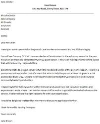 care support worker cover letter