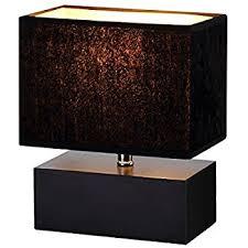 Wooden Table Lamp Elegant Designs Lt1036 Blk Rectangular Dual Stacked Stone Ceramic