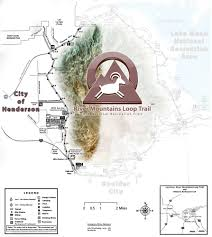 Las Vegas Walking Map by Trailheads In Henderson River Mountains Loop Trail