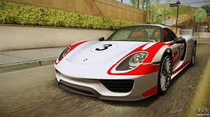 Porsche 918 Awd - porsche 918 spyder 2013 weissach package eu for gta san andreas