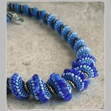blue bead necklace images Cellini spiral blue beaded necklace francesca 39 s fancy jpg