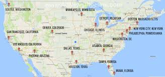 map of us cities map shows which us cities might be targeted in nuclear