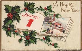 new year post card happy new year postcard sent from indiana in 1910
