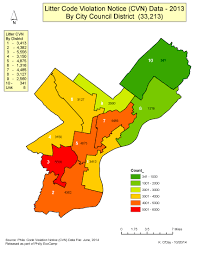 Los Angeles City Council District Map by Litter Gis Environmental Challenges
