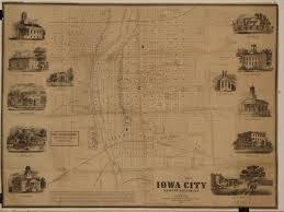 Iowa City Map A Terrific Map Of Iowa U0027s First State Capital Rare U0026 Antique Maps