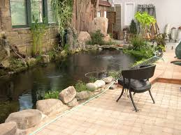decoration indoor koi pond greenhouse pond with stone wall and