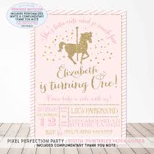 birthday invites astounding carousel birthday invitations ideas