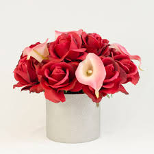 pink calla real touch roses pink calla lilies arrangement flovery