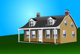dutch colonial style house stock vector image of roof 1873304