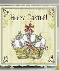 Easter Decorations In Dubai by Easter Decorations Holiday Gifts Fabric Shower Curtain Greenish