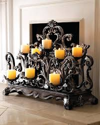 tealight fireplace screen metal fireplace candle holders