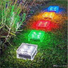 solar garden path lights best solar brick ice cube path lights crystal garden l led