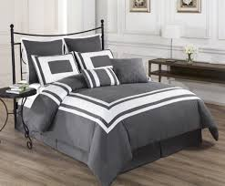 bedroom country style ivory and gray bedding sets with