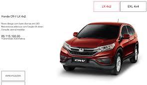 Honda CR-V 2016 ganha versão LX 4x2 por R$ 115.100 | Autos ...