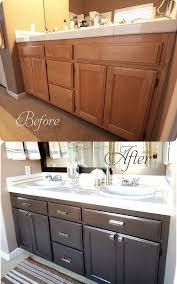 how to refinish bathroom cabinets update your bathroom cabinets for under 70 bathroom cabinets