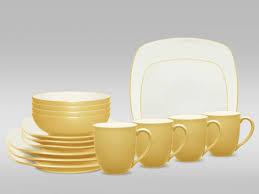 Corelle Square 30 Piece Dinnerware Set Noritake Colorwave Square 16 Piece Dinnerware Set Service For 4