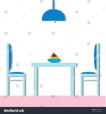 Dining Table And Two Chairs Dining Room Modern Furniture Table Two Stock Vector 389911042