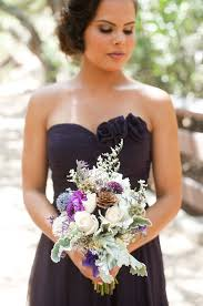 country wedding flower dresses rustic purple and gray wedding