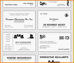 free business cards templates for word free blank business card