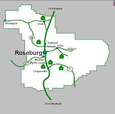 map of oregon i 5 douglas county covered bridges
