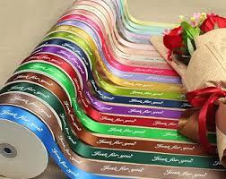 personalized satin ribbon printed satin ribbon etsy