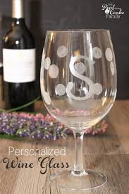diy monogram wine glasses personalized gifts make gorgeous wine glasses