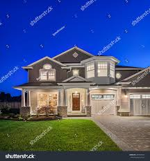 beautiful new england style home exterior stock photo 264509549