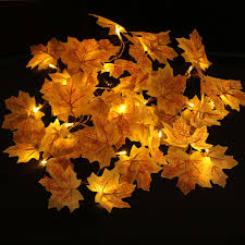 led tree string lights maple pattern for home decoration