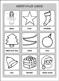 christmas vocabulary for kids learning english printable resources