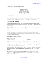 pharmaceutical sales resume examples resume example and free