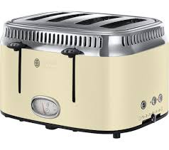 Russell Hobbs Kettle And Toaster Set Buy Russell Hobbs Retro 21692 4 Slice Toaster Cream Free